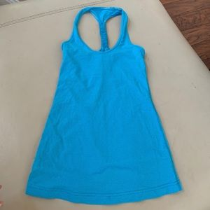 Blu lululemon tank top 2/4 xs gym workout